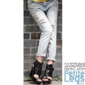 Alexa Straight Leg Distressed Boyfriend Jeans | UK Size 8/10 | Petite Inseam 25 inches